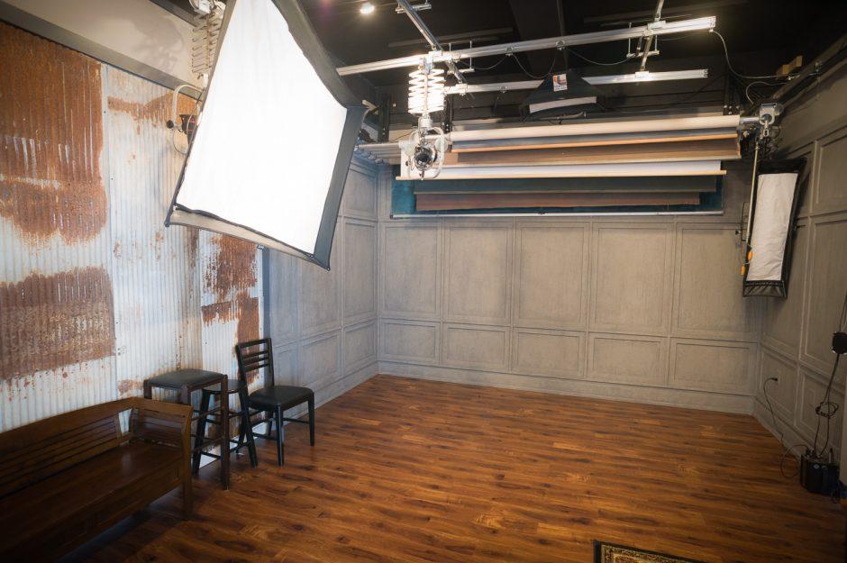 BW Portrait Art - Studio Camera Room